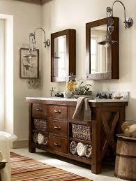 pottery barn bathroom lights benchwright double sink console rustic mahogany finish pottery 543 x 720px barn bathroom lighting l30