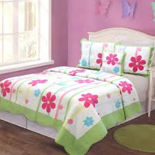 girl bedding flowers theme set withal design twin little girls quilt sets full size toddler kids