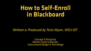how to self enroll in blackboard how to self enroll in blackboard