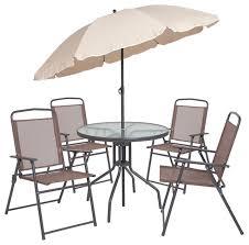 offex nantucket 6 piece brown patio
