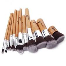 11pcs professional makeup brush brushes cosmetic powder tool kit set with bag mt52
