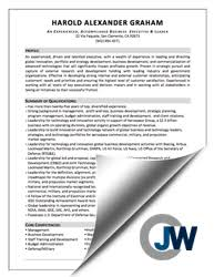 Jw Professional Resume Services Executive Resumes