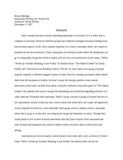 last essay rough draft bryan mulligan expository writing  last essay rough draft bryan mulligan expository writing 101 section jq instructor nicole kenley 3 2007 sanctuaries ones normal reaction