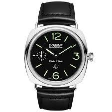 officine panerai watches at berry s jewellers radiomir black seal logo acciaio men s black strap watch