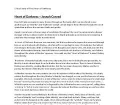 heart of darkness critical analysis gcse english marked by  document image preview
