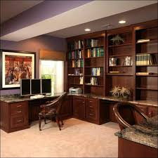 basement home office ideas. interior luxurious home office design with elegant wooden furniture placed in basement simple ideas