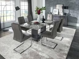marble dining room table sets marble dining table and 6 grey chairs round marble dining room