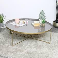 gold purple coffee table