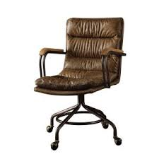 vintage leather office chair. internet #301764194. +3. acme furniture hedia top grain leather office chair in vintage whiskey