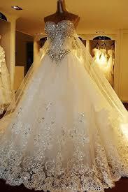 rhinestone wedding dress. Sparkly Rhinestone Lace A line Wedding Dresses 2017 Luxurious Long