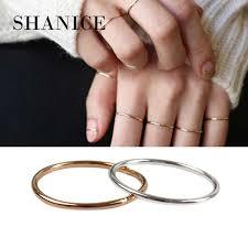 SHANICE <b>100</b>% Real Pure 925 Sterling Silver Ring Minimalist ...