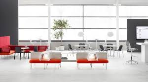 office orange. An Open Collaboration Area Featuring Social Chairs From The Public Office Landscape System In Orange, Orange
