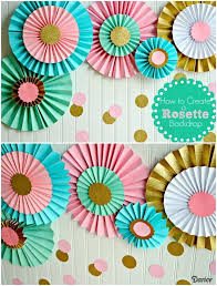 how to make paper rosettes diy party decorations
