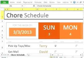 Chore Chart Samples Household Chores Template Senetwork Co