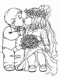 Kleurplaat Bruidspaar
