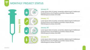 Project Status Slide Pharmaceutical Free Powerpoint Template