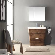Fresca Milano 32 Rosewood Modern Bathroom Vanity w Medicine Cabinet