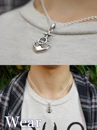 silver silver 925 necklace nautical pendant shinjuku silver collection anchor wheel silver pendant no chain