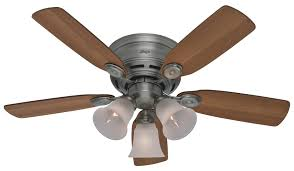 hunter 23857 42 inch low profile plus 42 inch ceiling fan antique pewter