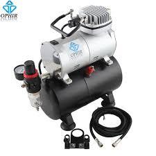 ophir professional air tank compressor 110v us plug compressor for hobby airbrush car painting cake decoration