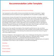 Recommendation Letter Template Job Best Of Tem 1062