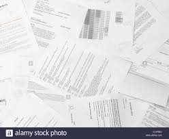 Paper Reports Scattered Paper Reports And Documents Stock Photo 35624894