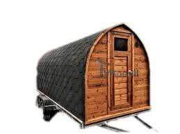 Attractive Sauna Igloo Extérieur Avec Remorque, Vestiaire Et Poêle à Bois Harvia (1)