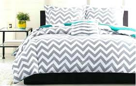 teal gray bedding grey and comforter king white chevron 4 piece set zigzag quilt teal gray bedding