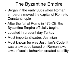 the fall of the r empire in ce ad led to the start of  45 the byzantine empire