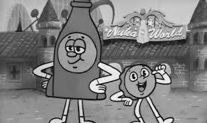 Graffiti Animation Fallout 4 Nuka World Bottle And Cappy Animated Trailer Youtube