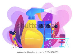Company tidy office Ideas Commercial Cleaning Company Janitors Tidy Up Office With Spray Commercial Cleaning Cleaning Industry Service Shutterstock Commercial Cleaning Company Janitors Tidy Office Stock Vector