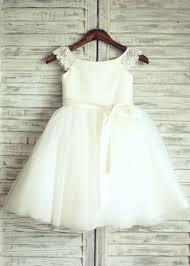 Lace Tulle Cap Sleeves TUTU Flower Girl Dress