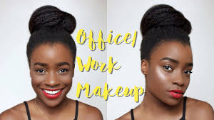 quick easy work office makeup dark skin makeup