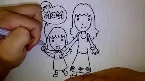 สอนวาดการ์ตูนวันแม่ แม่ลูก เดินจูงมือ EP 2 - YouTube
