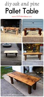 Wood Pallet Table Top Diy Oak And Pine Pallet Table