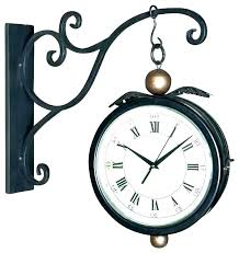 large hanging wall clock hanging wall clocks double sided wall clock two sided wall clock