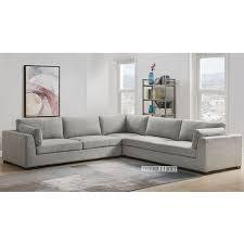 walcott sectional sofa light grey