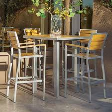 Chic Outdoor Pub Table And Chairs Outdoor Bar Furniture Patio Bars