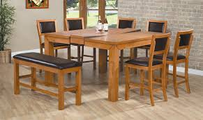 Wood Dining Table Set Tall Table And Chairs Set Rustic Round Dining Room Table Round