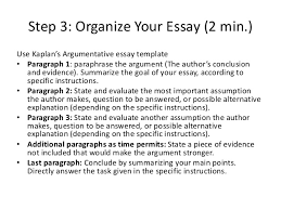 presentation argumentative essay 18 step 3 organize your essay