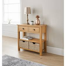 wiltshire oak console table with