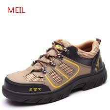 Men Casual Work Shoes Safety Shoes <b>Steel Toe Cap Anti</b> ...