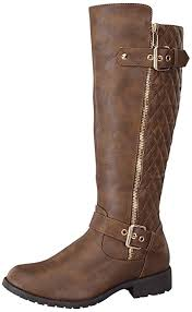 Amazon.com   Top Moda Women's Bally-32 Knee High Quilted Leather ... & Top Moda Women's Bally-32 Knee High Quilted Leather Riding Boot,Brown,5.5 Adamdwight.com