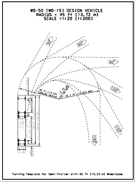 Roadway Design Manual Minimum Designs For Truck And Bus Turns
