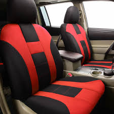 uinversal red full car seat cover