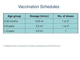 Influenza Dosage Chart Timing Of Influenza Vaccination In India
