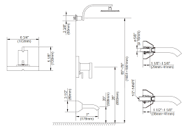standard rough in height for shower head designs bathtub faucet