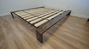 modern platform bed wood. Encore Modern Platform Bed \u2013 Custom Wood Stain - California King