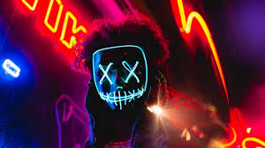 Download wallpaper 1920x1080 mask, neon ...
