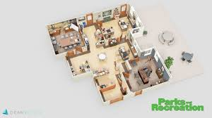 the office floor plan. Parks And Recreation 3D Floor Plan The Office